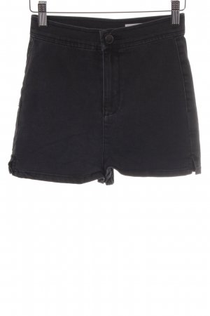Asos Denim High-Waist-Shorts anthrazit klassischer Stil