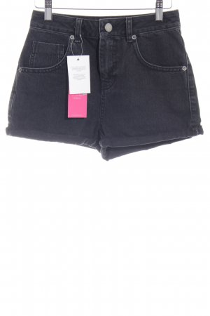 Asos Denim High-Waist-Shorts schwarz Casual-Look
