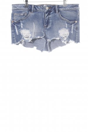 Asos Denim Hot Pants blau Destroy-Optik
