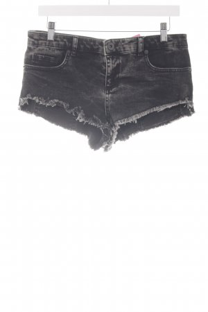 Asos Denim Hot Pants schwarz-grau Beach-Look