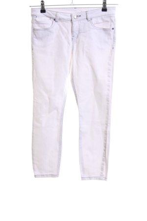 Asos Denim Jeans vita bassa bianco stile casual