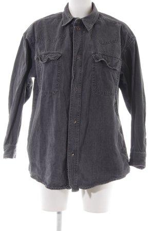 Asos Denim Spijkershirt donkergrijs straat-mode uitstraling