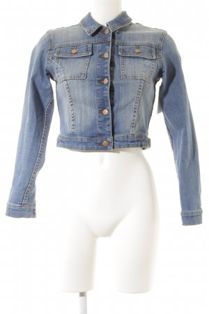 Asos Denim Jeansjacke blau Casual-Look