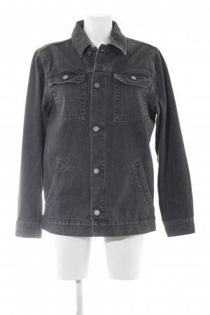 Asos Denim Jeansjacke dunkelgrau Street-Fashion-Look