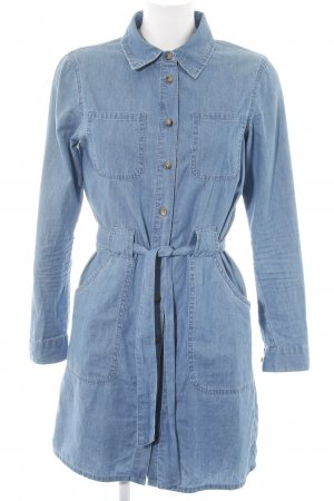 Asos Denim Jeanskleid blau Street-Fashion-Look