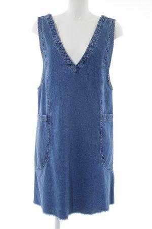 Asos Denim Jeanskleid blau Allover-Druck Jeans-Optik