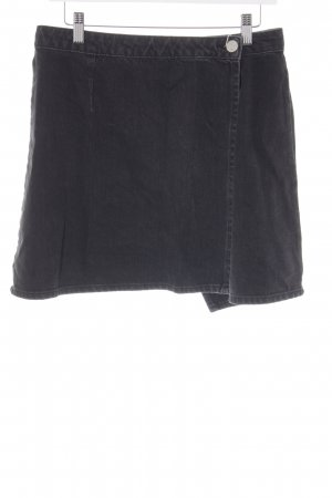 Asos Denim Denim Skirt dark grey-black street-fashion look