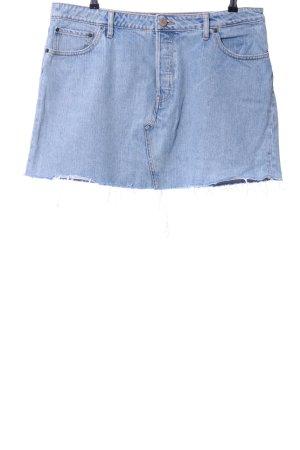 Asos Denim Gonna di jeans blu fiordaliso stile casual