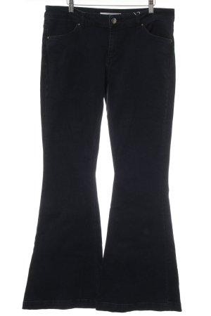 Asos Denim Jeansschlaghose dunkelblau Casual-Look