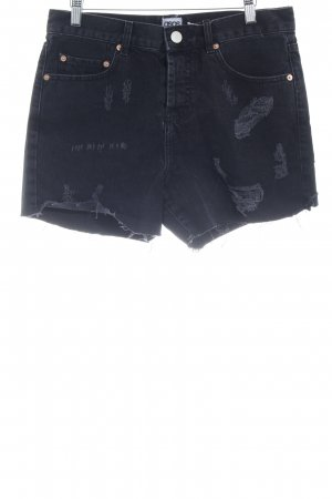 Asos Denim Denim Shorts black distressed style