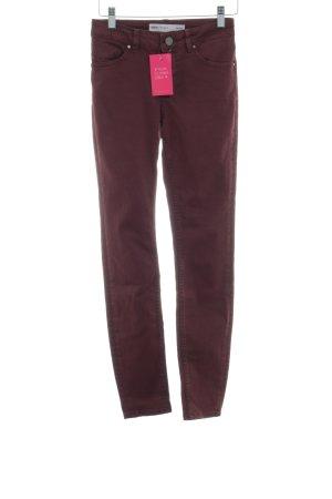 Asos Denim Skinny Jeans braunrot Casual-Look