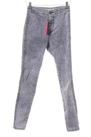 Asos Denim Skinny Jeans grau-hellgrau meliert Casual-Look