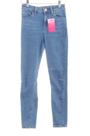 Asos Denim Skinny Jeans graublau Jeans-Optik