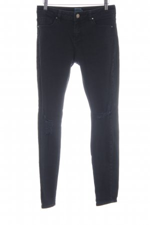 Asos Denim Skinny Jeans schwarz Street-Fashion-Look