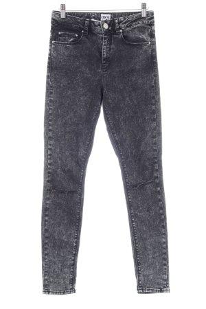 Asos Denim Skinny Jeans schwarz-weiß Destroy-Optik