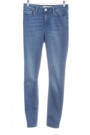 Asos Denim Skinny Jeans stahlblau Washed-Optik
