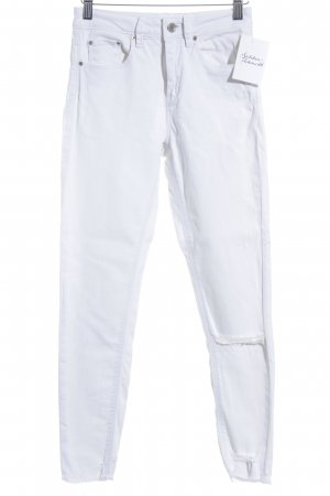 Asos Denim Skinny Jeans white-silver-colored casual look