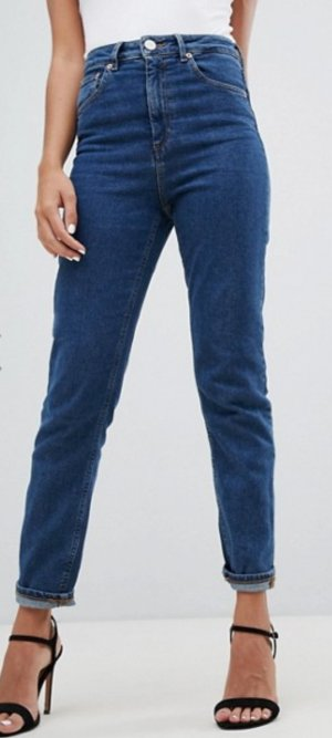 Asos Denim Straight Leg Jeans dark blue casual look