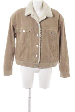 Asos Denim Winterjacke beige Street-Fashion-Look