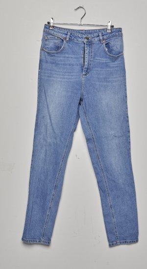 ASOS DESIGN – Farleigh – Schmale Mom-Jeans mit hohem Bund in heller Stone-Waschung