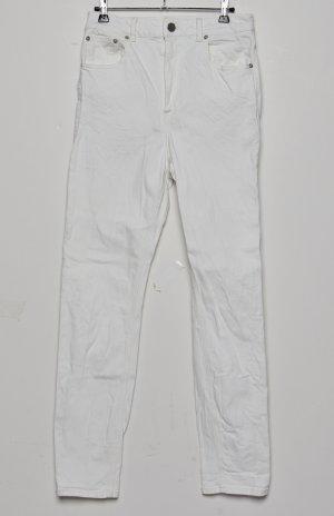 ASOS DESIGN – Farleigh – Schmale Mom-Jeans mit hohem Bund IN WEIß