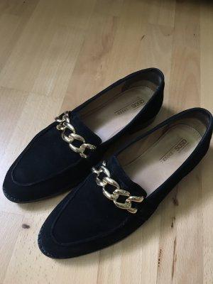 Asos Moccasins black-gold-colored