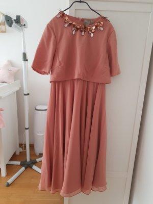 Asos Midi Dress rose-gold-coloured
