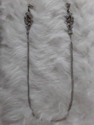 Asos Collier incrusté de pierres argenté