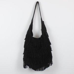 Asos Fringed Bag black suede