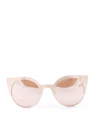 Asos Angular Shaped Sunglasses rose-gold-coloured-dusky pink street-fashion look