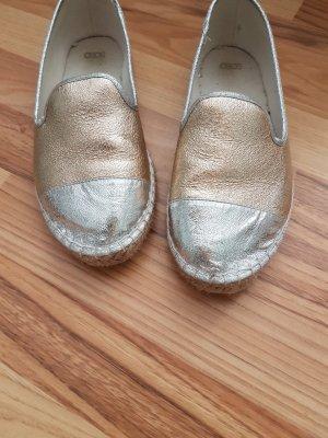 Asos Espadrille sandalen zilver-goud