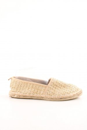 Asos Espadrilles-Sandalen creme-wollweiß Zopfmuster Casual-Look