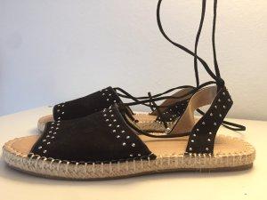 Asos Sandalo con cinturino e tacco alto nero-argento