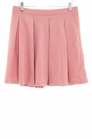 Asos Plaid Skirt pink flecked casual look