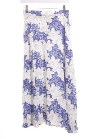 Asos Faltenrock weiß-blau florales Muster Retro-Look