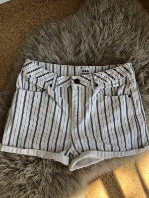 Asos Short en jean blanc-bleu foncé