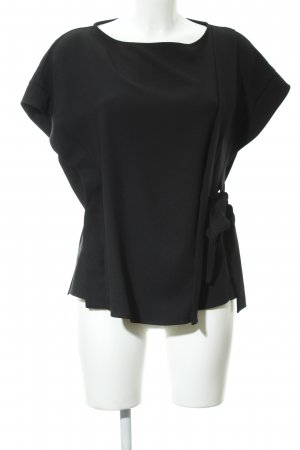 Asos Blusa brillante negro estilo «business»
