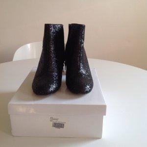 ASOS Glitzerstiefelette, Ankle Boots, schwarz