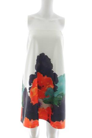 Asos Falda acampanada blanco-rojo estampado floral elegante