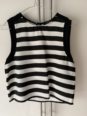 Asos Mouwloze blouse wit-zwart
