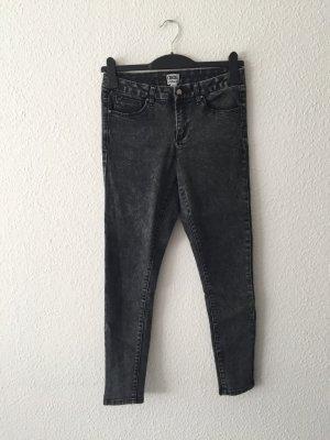 Asos grau melierte Jeans Röhre 36