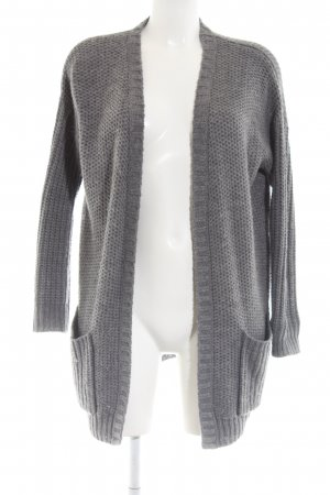 Asos Coarse Knitted Jacket light grey casual look