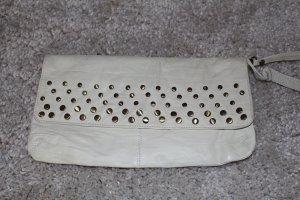 Asos große Echtleder-Cluch mit Nieten