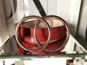 ASOS Gürtel taillengürtel neu rot Gold Ringe schnalle