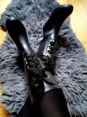Asos Wellington laarzen zwart-zilver
