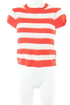 Asos Top en maille crochet blanc-orange fluo style décontracté