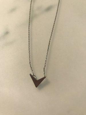 Asos Halskette mit Dreieck Silber
