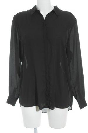 Asos Hemd-Bluse schwarz Elegant