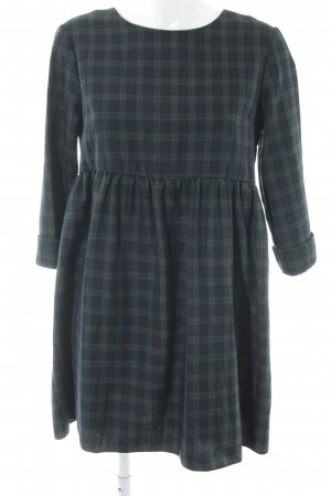 Asos Shirtwaist dress dark blue-dark green check pattern casual look