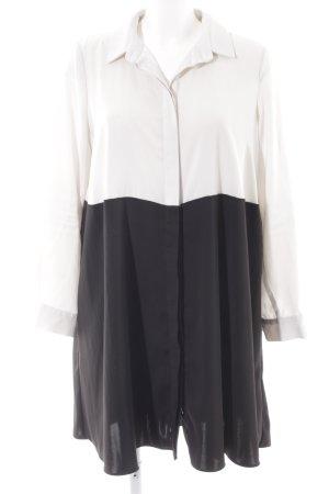 Asos Robe chemise noir-blanc style décontracté